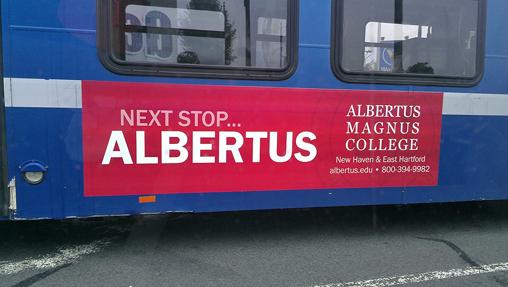 Albertus Magnus Bus Ad