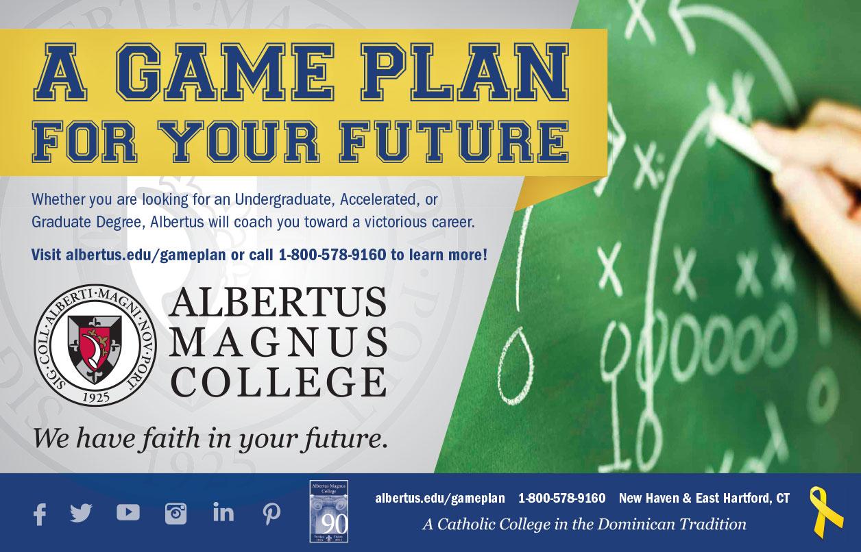 Albertus Magnus Print NFL Ad
