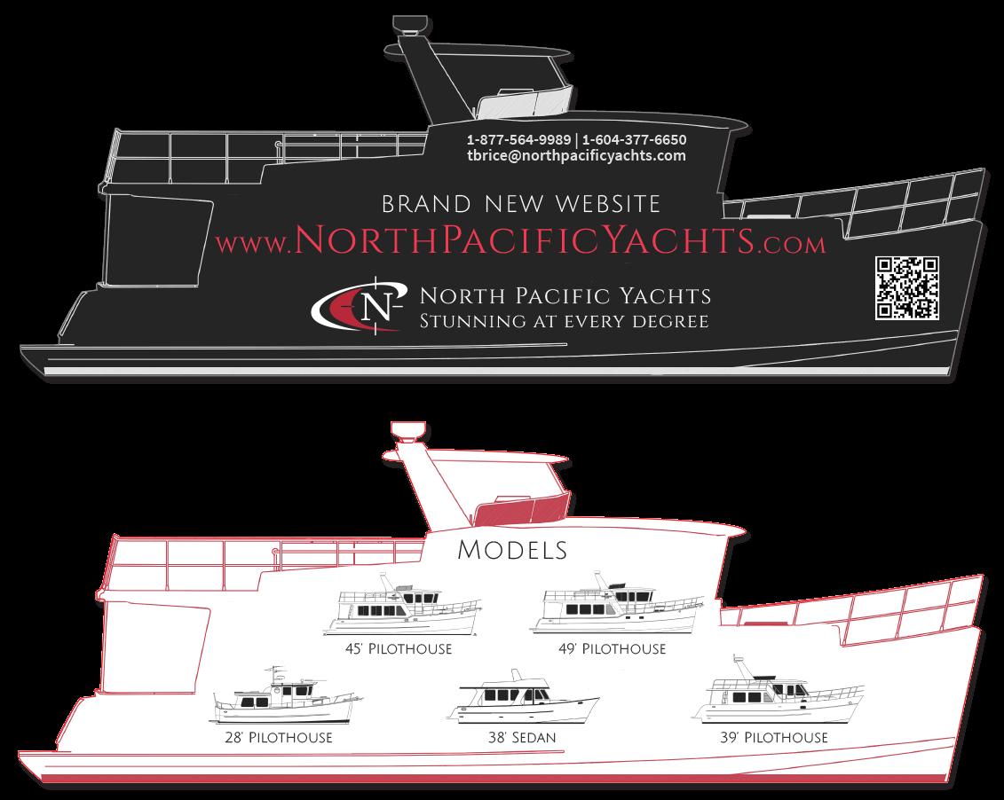 North Pacific Yachts Print Die-cut