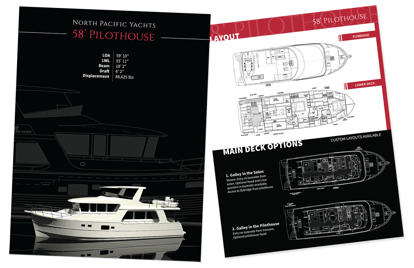 North Pacific Yachts Print Spec Handout