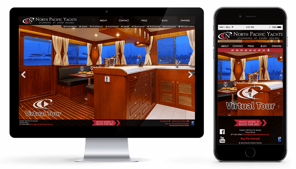 North Pacific Yachts Website