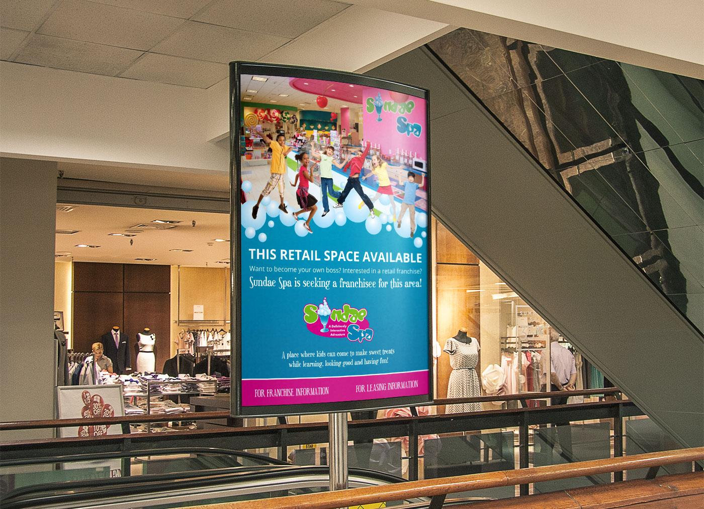 Sundae Spa Mall Sign